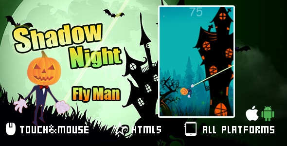Shadow Night-html5 game Capx - CodeCanyon Item for Sale