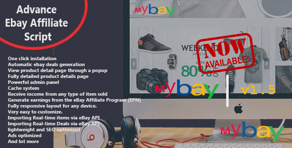 Mybay - Fully Automated Advanced eBay Affiliate Script - CodeCanyon Item for Sale