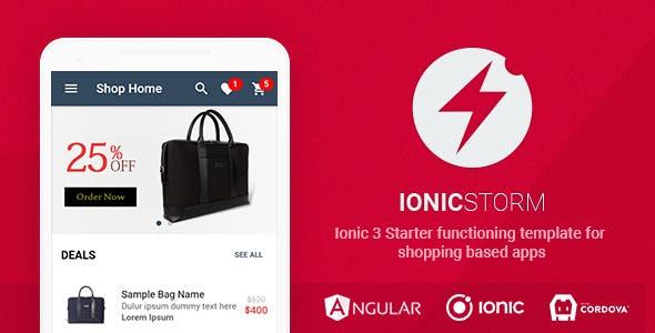 Ionicstorm Shop App Template