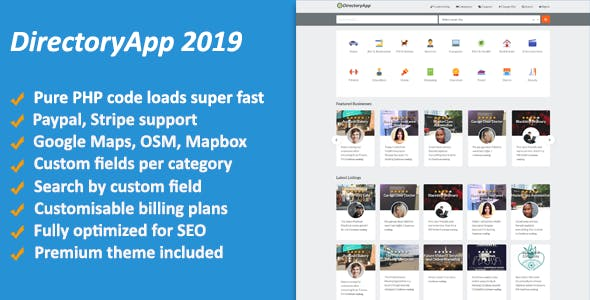 Directoryapp 2019 - Business Directory - CodeCanyon Item for Sale