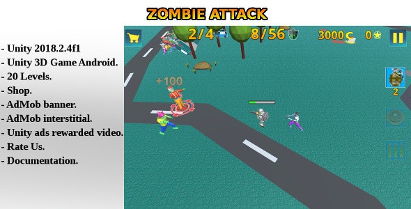 Zombie Attack - Unity Game - CodeCanyon Item for Sale