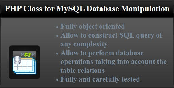 PHP Class for MySQL Database Manipulation