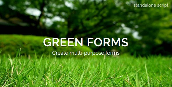 Green Forms - Standalone Form Builder - CodeCanyon Item for Sale