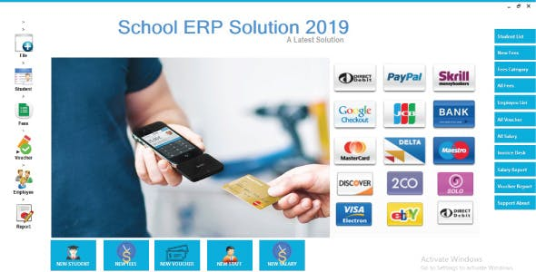 School ERP Solution Full School Management System New 2020 C#