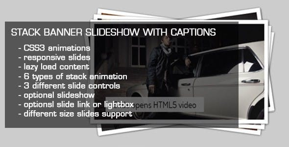 JQuery Stack Banner Slideshow with Captions