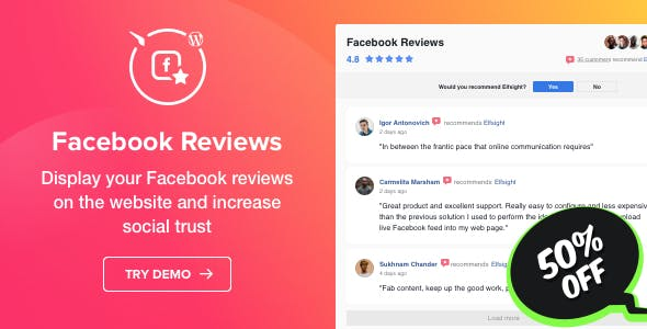 Facebook Reviews - WordPress Facebook Reviews plugin