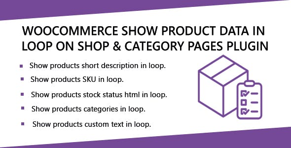 WooCommerce Show Product Data in loop on Shop & Category Pages Plugin