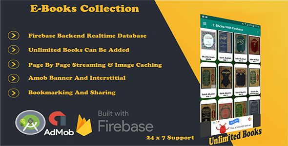 Books Collection App with FireBase - CodeCanyon Item for Sale