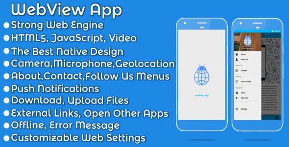 Make A Android Webview App With Mobile App Templates