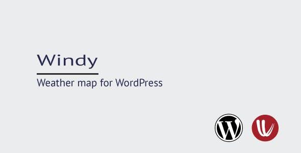 Windy map for WordPress