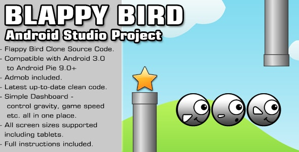 Blappy Bird Source Code - Android Studio Project by phantomapps