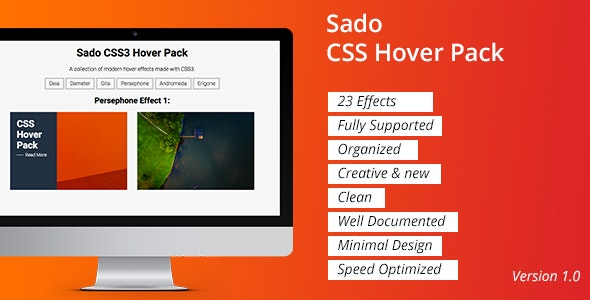 Sado CSS Hover Pack - CodeCanyon Item for Sale