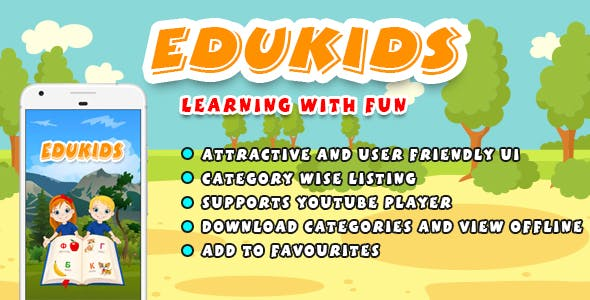 Edukids (android) - kids learning application