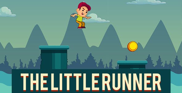 The Little Runner Platformer HTML5 Game + Capx
