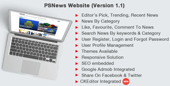 PSNews Website (Same Backend with Mobile Apps) 1.1