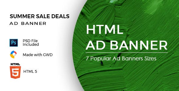 Summer Sale Deals - HTML Ad Banners