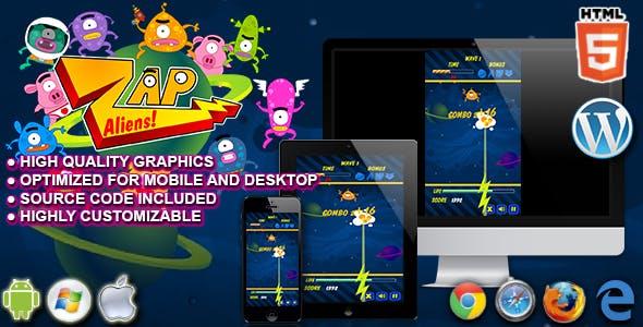 Zap Aliens - HTML5 Arcade Game
