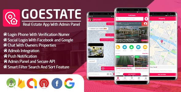 GoEstate - Real Estate App With Admin Panel - CodeCanyon Item for Sale