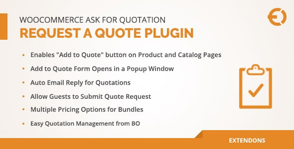 Woocommerce Request A Quote Plugin Ask For Quotation By Extendons