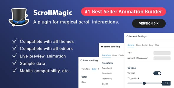 Scroll Magic Wordpress - Scrolling Animation Builder Plugin