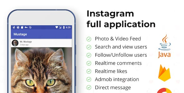 Instagram App Android Template + Web (Photo&Video)