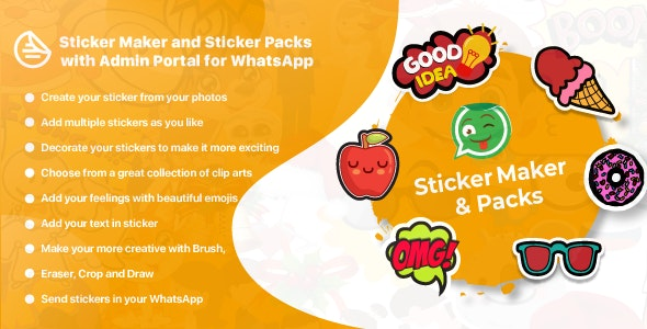 WhatsApp Sticker Maker with Admin Portal - WAStickerApps Android - CodeCanyon Item for Sale