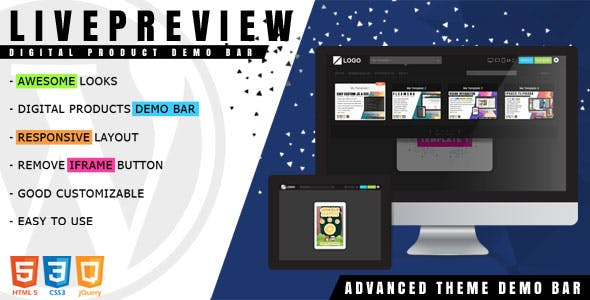 LivePreview - Theme Demo Bar for WordPress - CodeCanyon Item for Sale