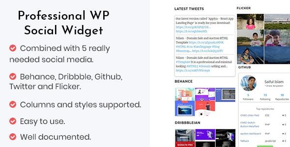Professional WP Social Widget Plugin - CodeCanyon Item for Sale
