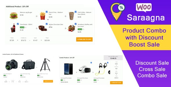 Saraggna | WooCommerce Product Combo with Discount Boost Sale Plugin (Cross Sell)