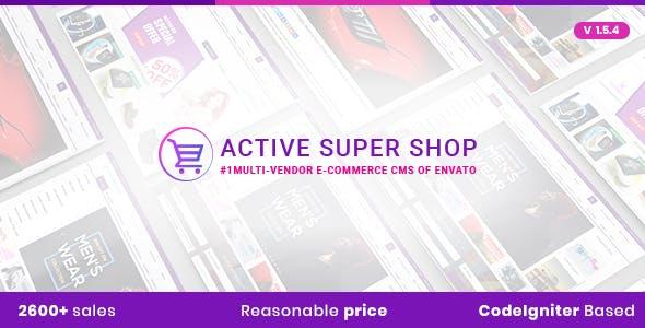 Active Super Shop Multi-vendor CMS        Nulled