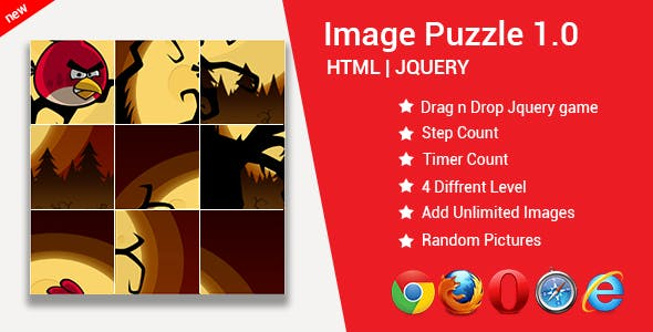 Image Puzzle Game | Puzzle Game | HTML | JQUERY | JAVASCRIPT by Scurite