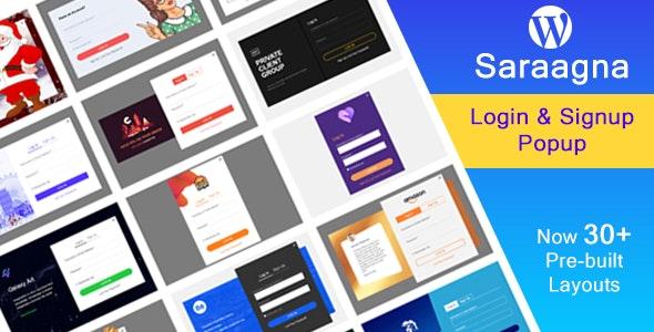 Saraggna   WordPress Login - Registration Popup Plugin - CodeCanyon Item for Sale