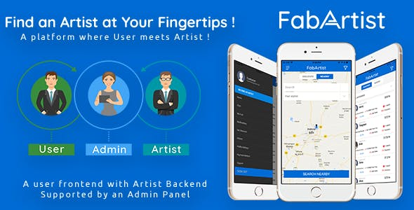Hire for Work - Fab Artist iPhone | 2 Apps | Customer App + Artist App + Admin Panel | Freelancer