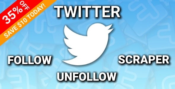 Twitter Auto Follow/Unfollow/Scraper - Chrome Extension - CodeCanyon Item for Sale