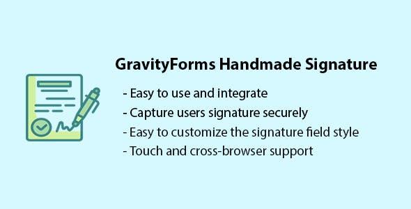 GravityForms Handmade Signatures
