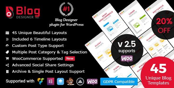 Blog Designer PRO for WordPress        Nulled