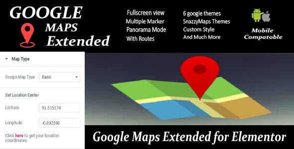 Google Maps Extended for Elementor