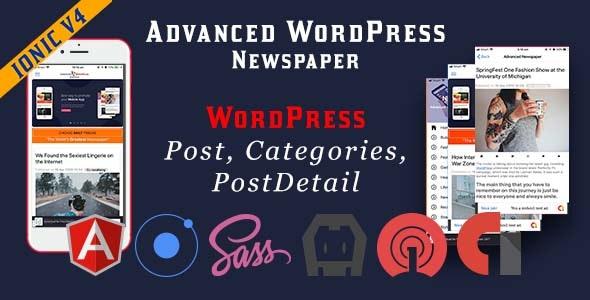 Advanced WordPress Newspaper Ionic 4 Full Mobile Application - CodeCanyon Item for Sale