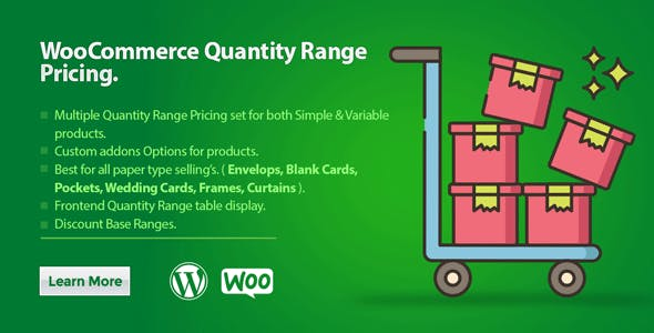 WooCommerce Quantity Range Pricing