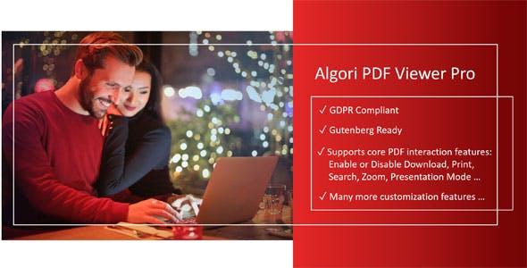 Algori PDF Viewer Pro for WordPress Gutenberg - CodeCanyon Item for Sale