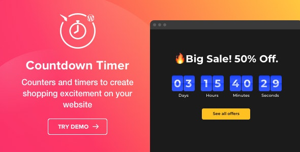 Countdown Timer - WordPress Countdown Timer plugin by