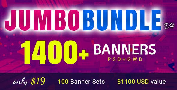Jumbo Bundle V4 - 1400+ Animated HTML5 Ad Banners in Google Web Designer