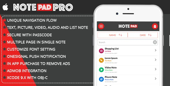 Notepad Pro | Include In App Purchase