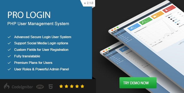 Pro Login - Advanced Secure PHP User Management System by Patchesoft