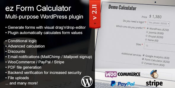 ez Form Calculator - WordPress plugin        Nulled