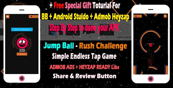 rushing ball jump jump game | Build-Box template with tutorial to export apk