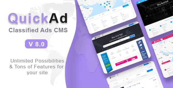 Quickad - ­Classified Ads CMS PHP Script