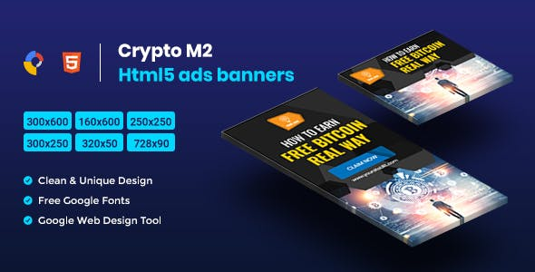 Crypto HTML5 Animate Banner Ads - GWD M2