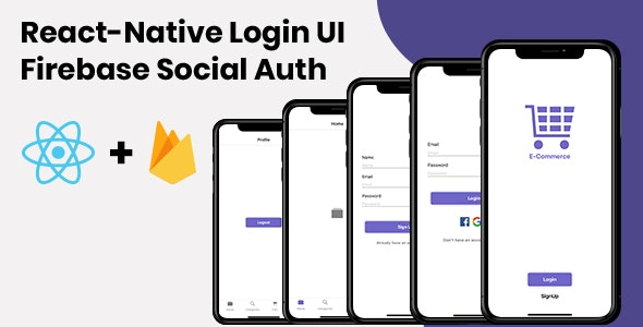 React-Native Login UI | Firebase Social Auth - CodeCanyon Item for Sale