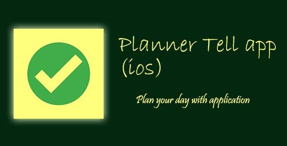 Planner tell app. (ios)